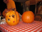 Misty & Dallas' pumpkins - Dallas did Charlie Brown! So cool!