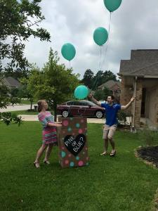 So excited to be parents to a baby boy!